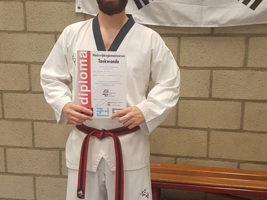 Guido Diederen een stap dichter bij zijn 1ste Dan Taekwondo